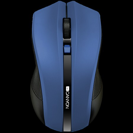 CANYON 2.4GHz wireless Optical Mouse with 4 buttons, DPI 800/1200/1600, Blue, 122*69*40mm, 0.067kg *NOVO*