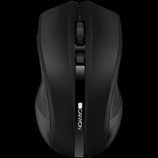 CANYON 2.4GHz wireless Optical Mouse with 4 buttons, DPI 800/1200/1600, Black, 122*69*40mm, 0.067kg *NOVO*