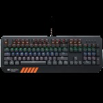 CANYON Wired multimedia gaming keyboard with lighting effect, 108pcs rainbow LED, Numbers 104keys, EN double injection layout, cable length 1.8M, 450.5*163.7*42mm, 0.90kg, color black *NOVO*