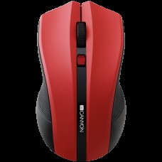 CANYON 2.4GHz wireless Optical Mouse with 4 buttons, DPI 800/1200/1600, Red, 122*69*40mm, 0.067kg *NOVO*