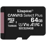 Kingston 64GB micSDXC Canvas Select Plus 100R A1 C10 Single Pack w/o ADP EAN: 740617298963 *NOVO*