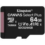 Kingston 64GB micSDXC Canvas Select Plus 100R A1 C10 Single Pack w/o ADP EAN: 740617298963 *NOVO*