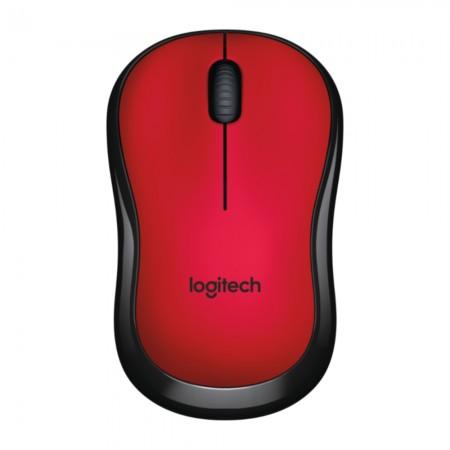 Logitech M220 Silent bežični optički miš, crvena *NOVO*