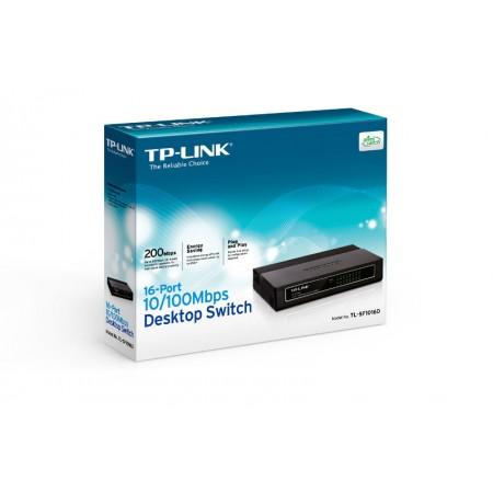 TP-Link TL-SF1016D,16-port 10/100 switch,plastično *NOVO*